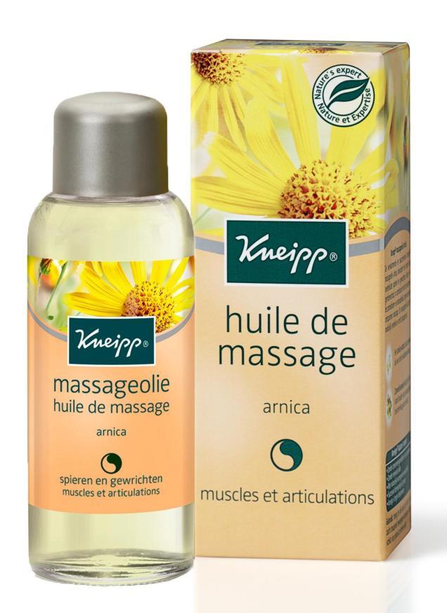 huile massage arnica
